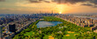 canvas print picture - Central Park aerial view, Manhattan, New York. Park is surrounded by skyscraper.
