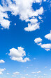 canvas print picture - Beautiful blue sky and clouds with daylight natural background.