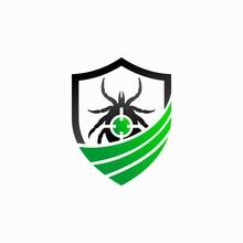 Pest Logo With Tick Concept