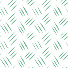 Vector Green Scratches On White Background Seamless Pattern. Abstract Diagonal Lines Print. Striped Ornament For Textile, Fabric, Wallpaper, Wrapping Paper, Design And Decoration.
