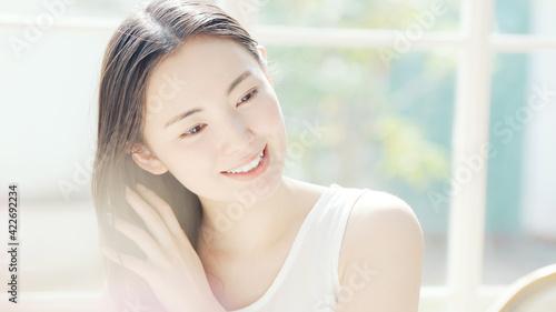 Fototapeta 女性の美容イメージ スキンケア ヘアケア obraz
