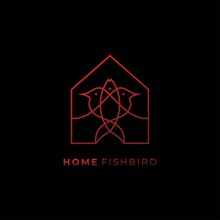 Fish Bird House Design Logo1