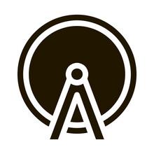 Ferris Wheel Icon Vector Glyph Illustration