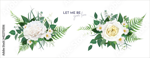 Fotografering Vector floral greenery bouquet