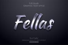 Silver Elegant Editable Text Effect Font Style