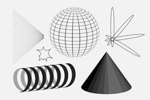 Universal Vector Geometric Shapes Composition