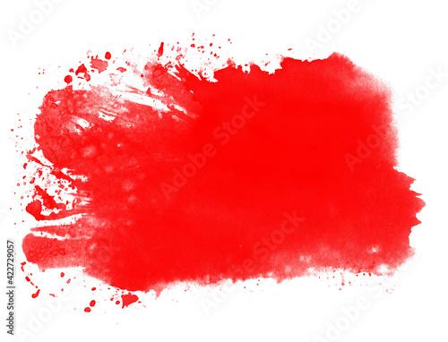 Fototapeta Wasserfarbe Hintergrund mit roter Farbe obraz