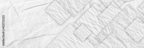 Fototapeta white crumpled paper obraz