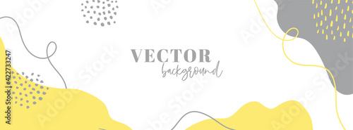 Fotografía Organic abstract long vector banner template for social media
