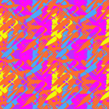 Vector Seamless Pattern With Abstract Repeat Shapes