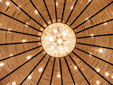 close up of a shining chandelier