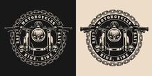 Custom Motorcycle Round Vintage Badge