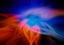 Abstract Twisted Colorful Beauty Background