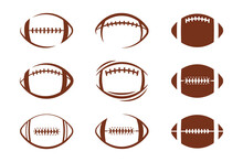 Vector Pattern Design Oval Ball In Sports American Football Popular Sport Competition To Find Winner