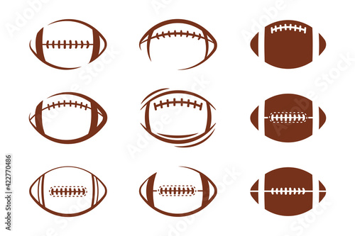 Fotografering Vector pattern design oval ball in sports american football popular sport compet