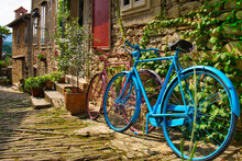 Retro Bike, Brandy And Old Historic Architecture Of Medieval Hum, Croatia - The Smallest Town In The World