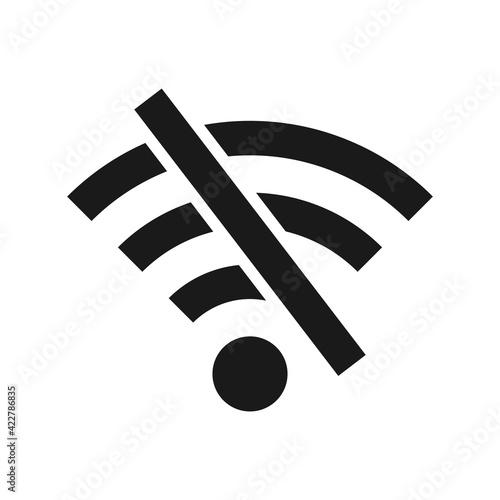 Offline wifi icon Fototapet