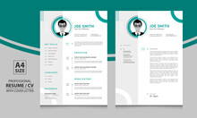Creative Resume Format, Cv Template, Cover Letter Layout For Corporate And Any Other Job