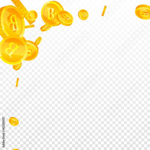 Valokuvatapetti Thai baht coins falling