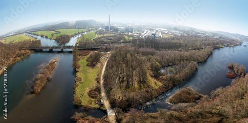 Papel de parede Hengsteysee - Zusammenfluss Lenne und Ruhr - Dortmund