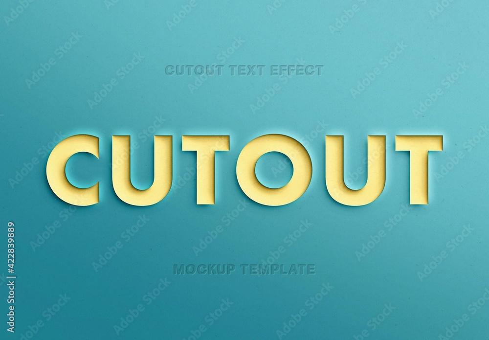 Fototapeta Paper Cutout Text Effect Mockup