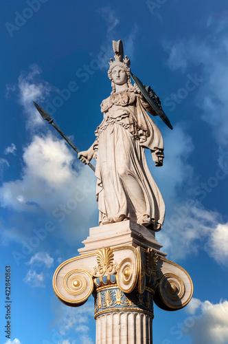Fototapeta marble statue of goddess Athena