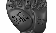Doodle Resist Fist Protest Related Icon, Isolated On White Background. Black Lives Matter, No Racism, 3d Render