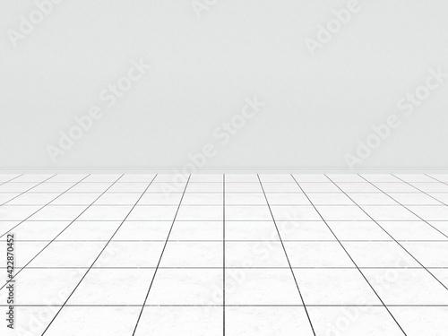 Obraz 床と壁の部屋空間の背景素材 - fototapety do salonu