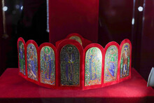 Kamyanets Podolsky, Ukraine - October 17, 2020:museum Great Exhibition, Worlds Crowns And Coronas Collection. Official And Historic Crowns Of The World. From  Rich, Diamond Encrusted Royal Masterpiece