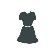 Dress Vector Flat Icon. Isolated Lady Dress Emoji Illustration