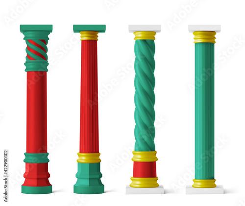 Fotografie, Obraz Chinese pillars for pagoda and gazebo