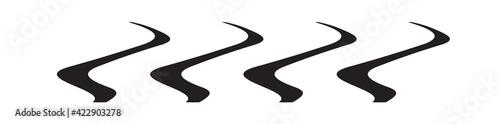 Obraz Abstract horizontal, oblong and long vector illustration element - fototapety do salonu