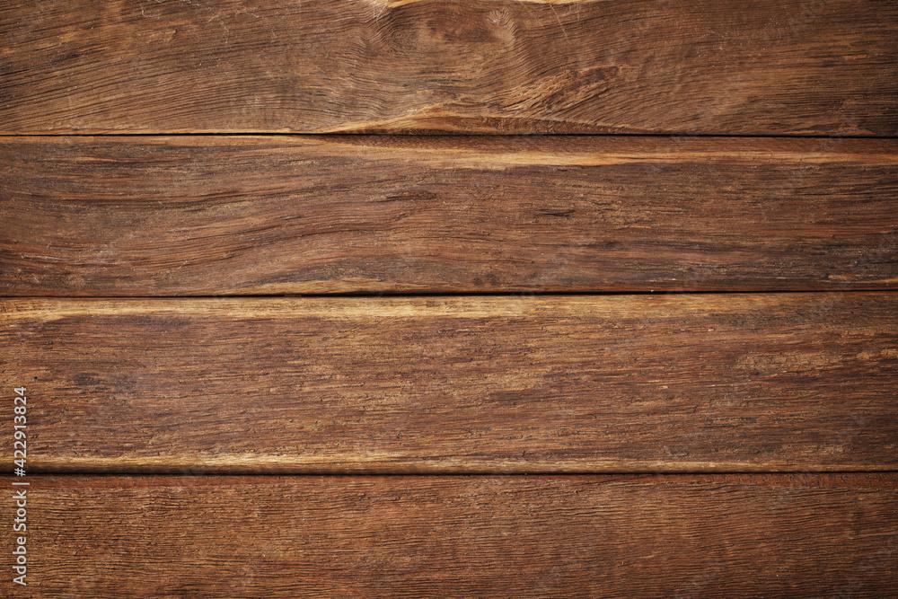 brown wood texture, dark wooden background for design - obrazy, fototapety, plakaty