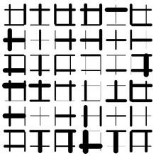 Geometric Grid, Mesh, Matrix Of Random Lines. Abstract Pattern
