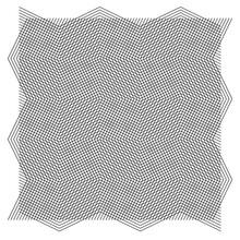 Grid, Mesh Of Wavy, Zig-zag Lines. Criss Cross Pattern