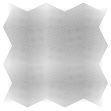 Grid, Mesh Of Wavy, Zig-zag Lines. Criss Cross Pattern