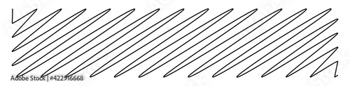 Leinwand Poster Squiggle, scrawl, curvy lines rectangular element vector illustration