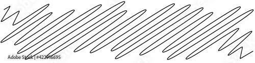 Canvas Print Squiggle, scrawl, curvy lines rectangular element vector illustration