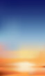 Sky in evening with orange, yellow and dark blue colour, Sunset dusk sky, Dramatic twilight landscape with morning sky,Vector mesh vertical banner of Sunrise for Spring or Summer