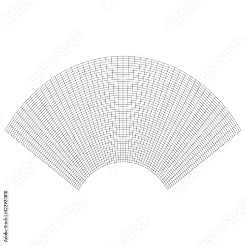 Grid, mesh with distorted, deformed effect Fotobehang