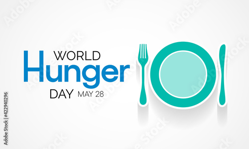 Obraz na plátně World Hunger day is observed each year on May 28 across the globe