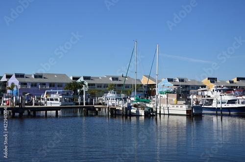 Marina am Golf Von Mexico, Punta Gorda, Florida Tapéta, Fotótapéta