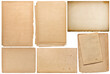 Paper sheets book pages cardboard isolated Scrapbooking crafting