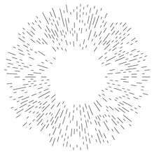 Radial, Radiating Lines, Stripes Abstract Element For Explosion, Burst, Spread Theme