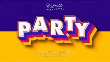 3D Bold Party Text Effect
