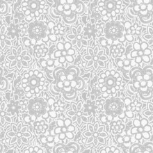 Elegant Floral Pattern In Small Hand Draw Linen Grey Flowers. Liberty Style. Floral Seamless Background For Fashion Prints. Vintage Print. Seamless Vector Texture. Spring Bouquet.