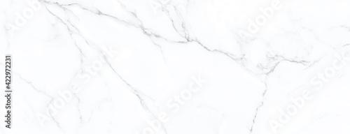 Fototapeta White marble stone texture, carrara stone surface  obraz