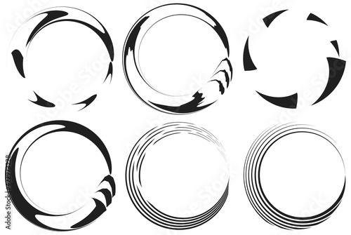 Leinwand Poster Spiral, swirl, twirl icon, design element vector illustration