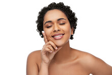 Young African American Woman With Moisturizer