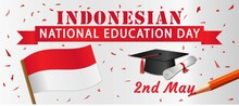 Indonesia National Education Day Banner Poster Flyer For 2nd May Celebration Hari Pendidikan Nasional